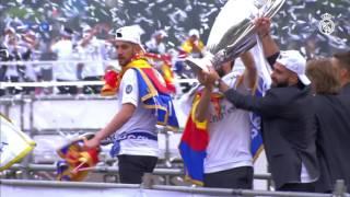 شاهد.. استقبال أسطورى للاعبي الريال في مدريد