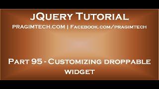 Customizing droppable widget