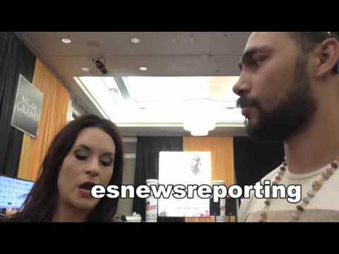 boxing star keith thurman talks boxing with NFL Coach Jennifer Welter  - EsNews boxing