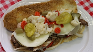 Tasty Chicago Style Italian Beef Sandwich