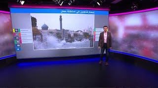 فيديوهات مروعة لإعصار شاهين في عمان