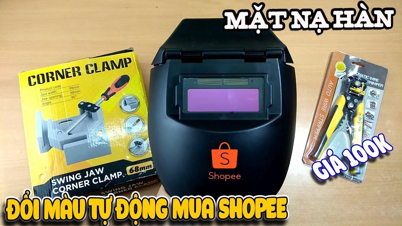 Mặt nạ hàn kính điện tử giá rẻ Shopee chất lượng ra sao ? ( welder goggles )    Văn Hóng