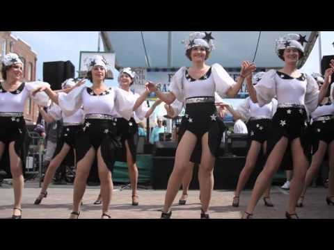NOLA Chorus Girls at French Quarter Fest April 9th 2016