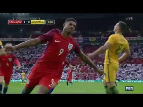 Marcus Rashford vs Australia (Debut) 27/05/2016 - HD (English Commentary)
