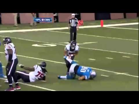 Ndamukong Suh kicks Matt Schaub in the balls!
