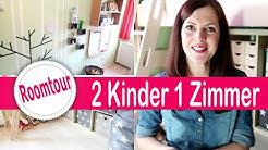 6 qm Kleines KINDERZIMMER Roomtour + DIY | Geschwister Zimmer |  2 Kinder 1 Kinderzimmer😱 | Rebekka
