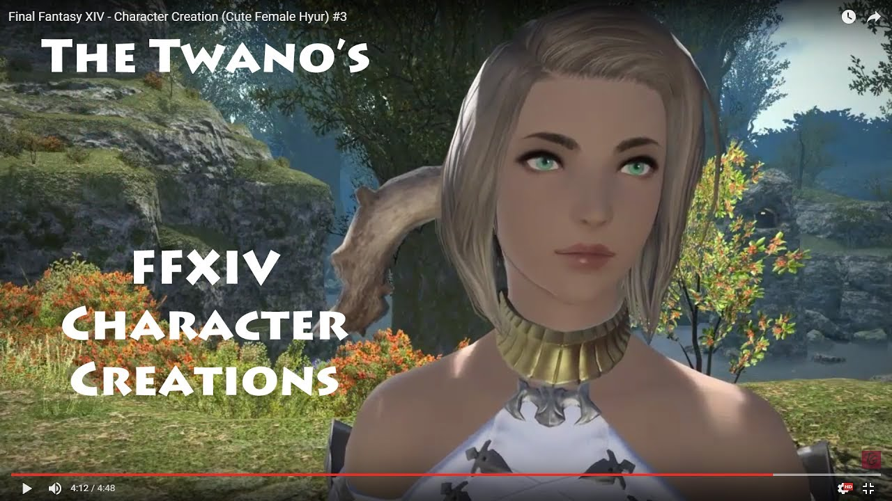 Final Fantasy XIV - Character Creation (Cute Female Hyur) #3