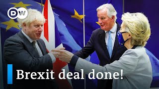 EU & UK strike last-minute Brexit trade deal | DW News