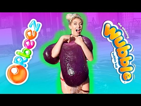 DO NOT PUT A WUBBLE BUBBLE FULL OF ORBEEZ IN THE POOL   DIY Giant Stress Ball Pool Experiment