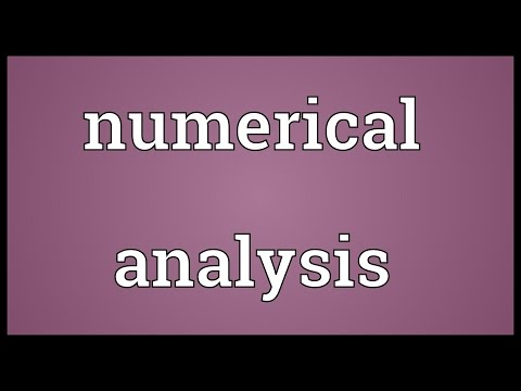 Numerical analysis Meaning
