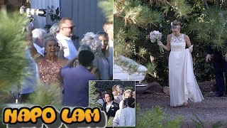 Lisa Curry, 55, stuns in pastel wedding gown as she weds Mark Tabone