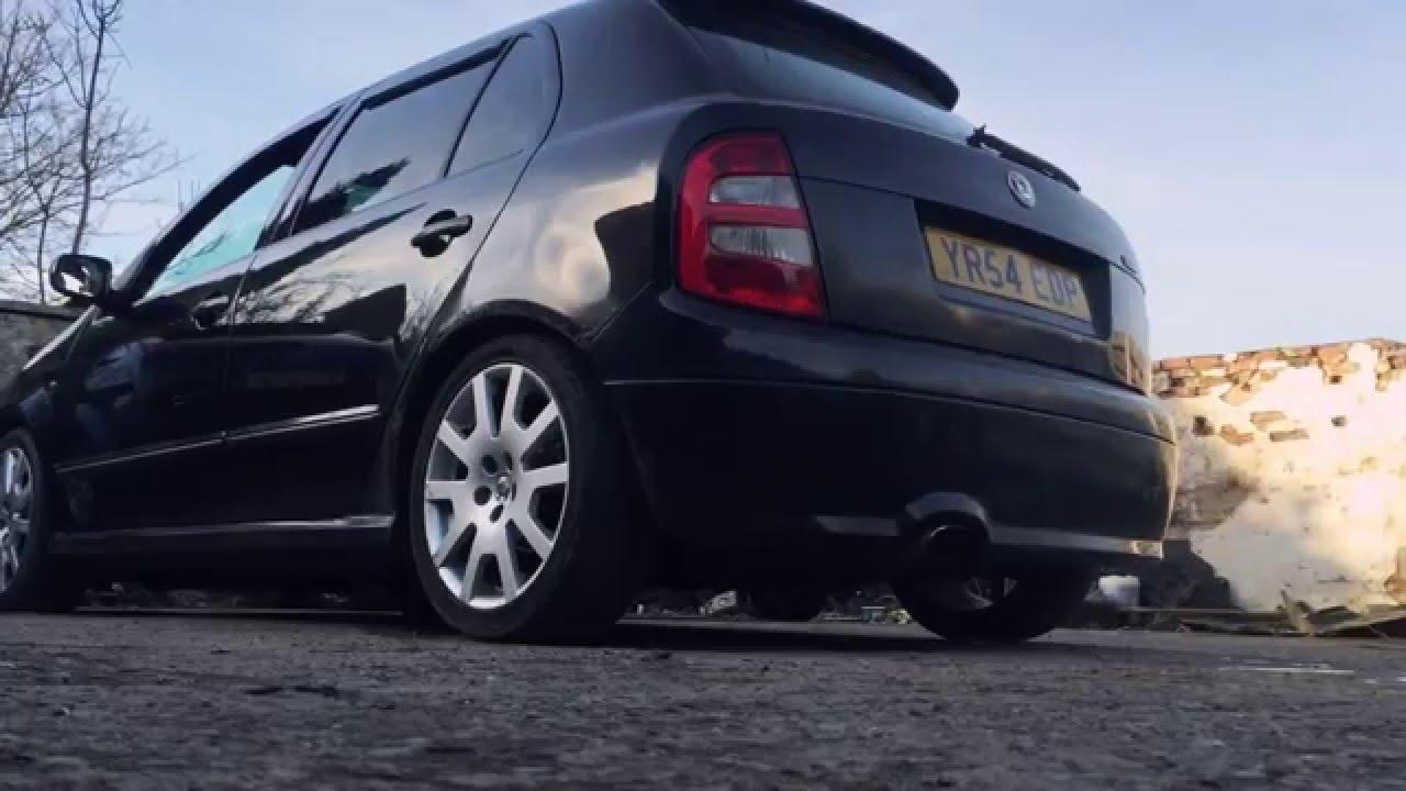 Skoda Fabia VRS 1.9TDI Custom exhaust (Straight Pipe ...