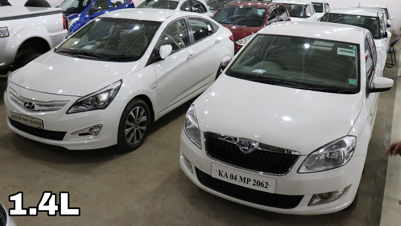 3 Sedans - Buy Used Cars Second Hand Bangalore Hyundai Verna, Maruti Suzuki  Swift Dzire,Skoda Rapid