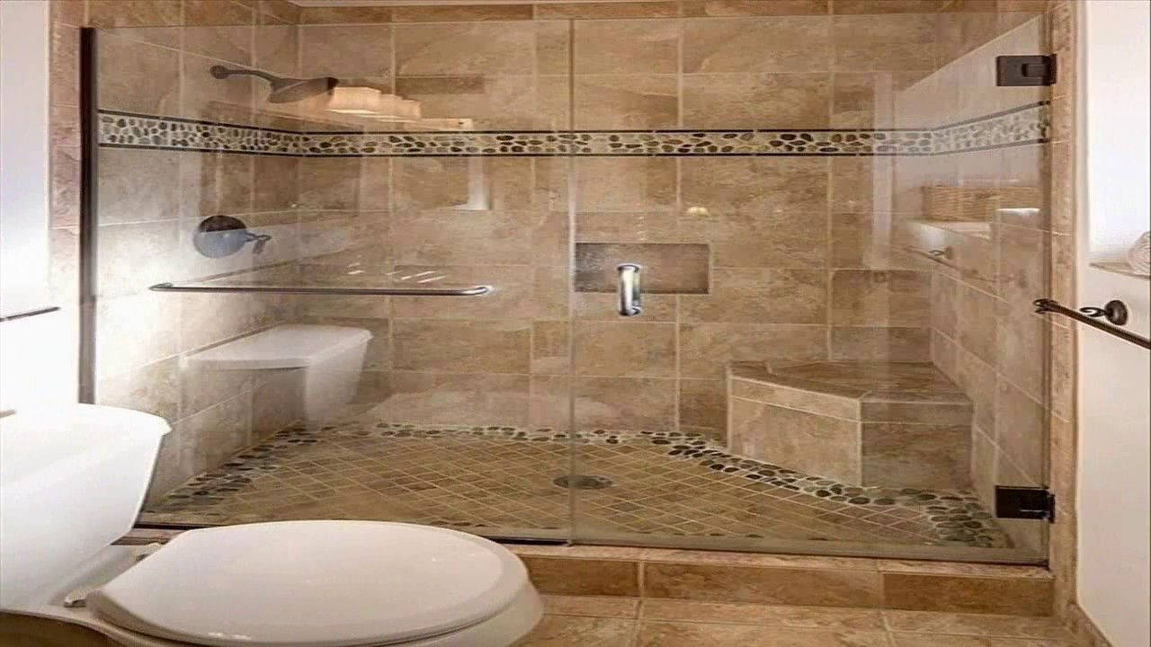 Bathroom Shower Stall Tile Designs - YouTube