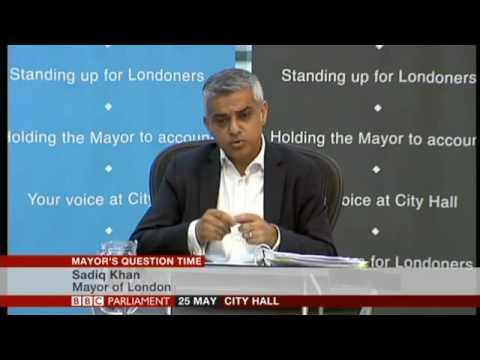 MQT Andrew Dismore questions Sadiq Khan 25 May 2016
