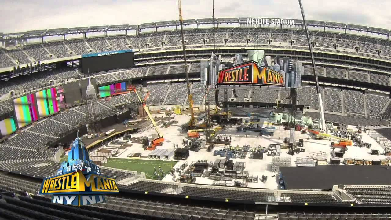 Creating The Wrestlemania 29 Set Wwe Com Exclusive April