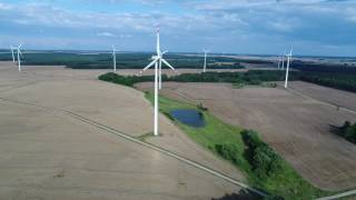 Farmy wiatrowe . Odnawialne źródło energii