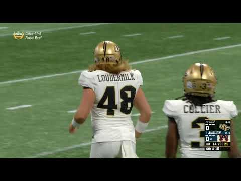 2017 Chick-Fil-A Peach Bowl #12 UCF vs #7 Auburn Full Game (1080p60)