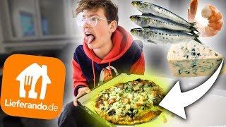 Pizza mit ALLEM bestellen! **Sardellen,Schimmelkäse,Krabben!**