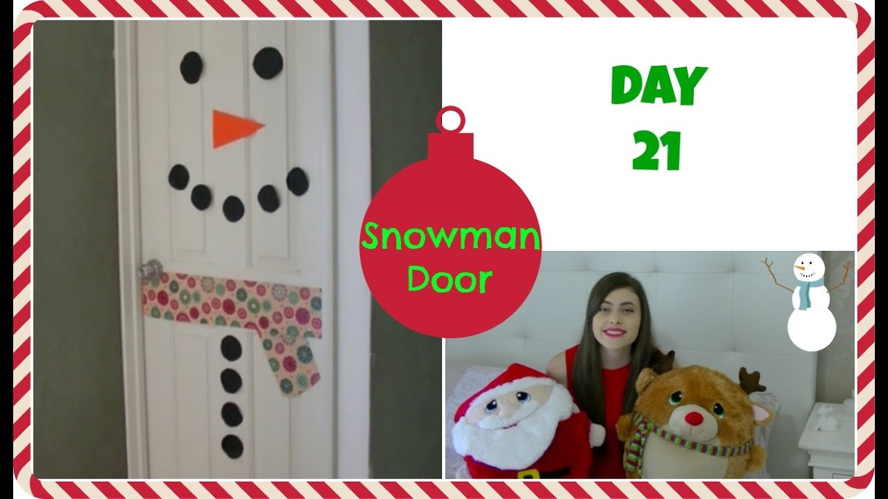 Door Snowman Diy & Snowman Door Decoration Using Styrofoam