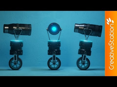 Little robot - 3D Speed art (#Cinema4D, #Fusion360) | CreativeStation