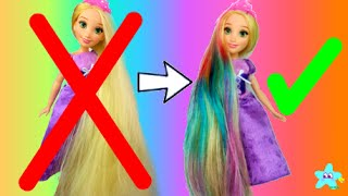 Rapunzel DIY Mermaid Hair Makeover | Frozen Glam & Go Hair Styling Tote | Rainbow Hair | Ells Bells