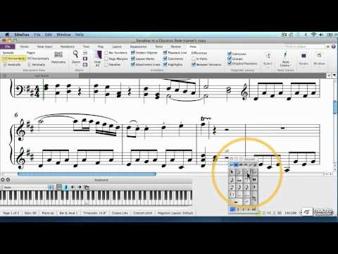 Sibelius 7 102: Piano Score Project - 5. Grace Notes Slurs and Articulations