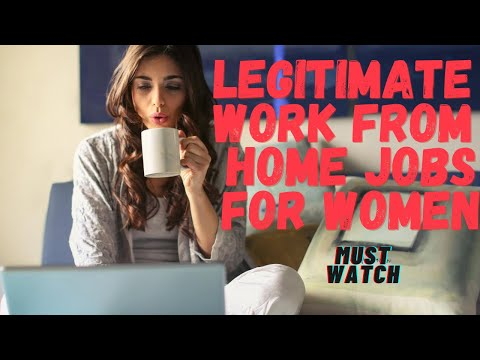 Legitimate Work From Home Jobs For Women || Job Opportunities For Women At Home