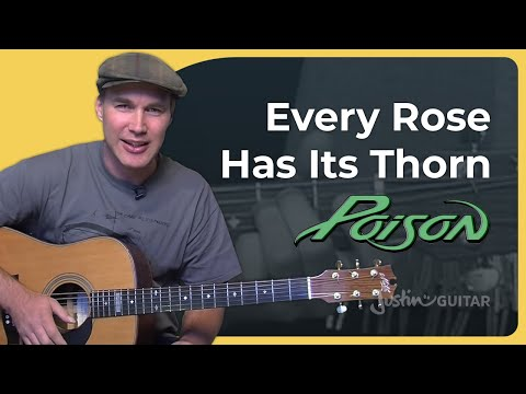 How To Play Every Rose Has It's Thorn By Poison (Rock Guitar Lesson SB-317)