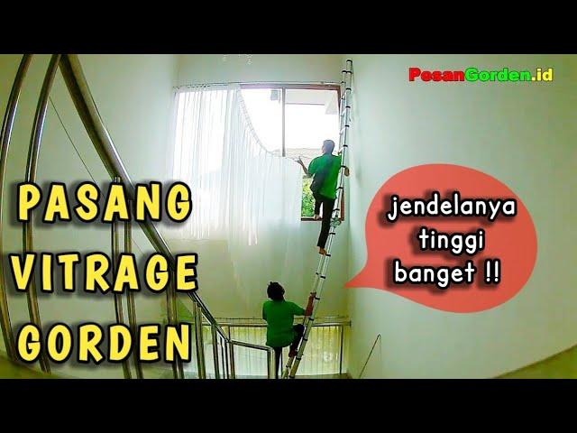 Cara Pasang Vitrage Gorden Gordyn Korden Di Ampera Jakarta Selatan 082310989451 #gudanggorden