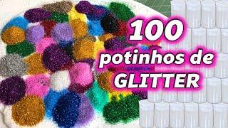 100 POTINHOS DE GLITTER NA SLIME