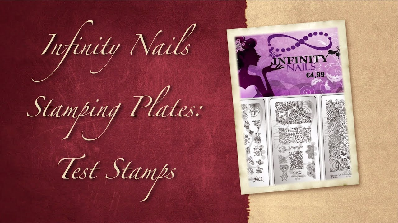 Infinity Nails Stamping Plates: Test Stamps - YouTube