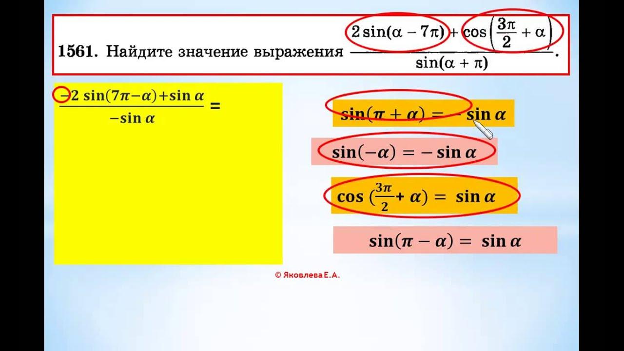 ЕГЭ-2014 математика Задание В-7. Урок №220 Свойства тригонометрических функций