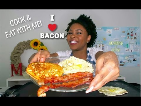 BREAKFAST MUKBANG COOK & EAT WITH ME!