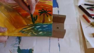 04. Творчество с детьми. Энкаустика - рисуем утюгом.