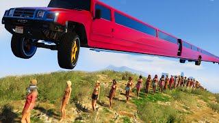 GTA 5 BRUTAL KILL / Fails Moments: #9 (GTA 5 Funny Moments Compilation) WORLD'S LONGEST CAR!!!