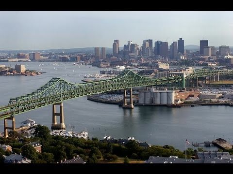 Driving In Boston >> Tobin Bridge - Boston, Massachusetts - YouTube