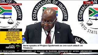 Minister Nene speaks about 'Project Spider Web'