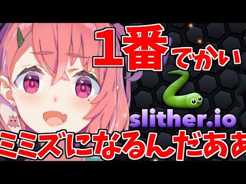 【slither.io】うちが1番でっかいミミズになるんだよおおおおお【笹木咲/にじさんじ】