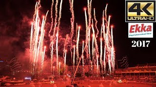 The EKKA 2017 Night Show | Ultra HD 4k video | Fireworks