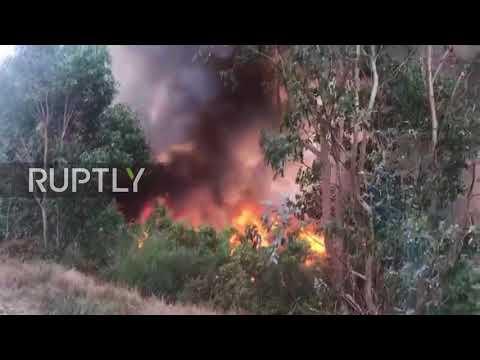 Spain: Two dead as fires rage across Galicia region
