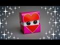 DIY - ORIGAMI FACE HEART CUBE - TUTORIAL / GIFT IDEAS