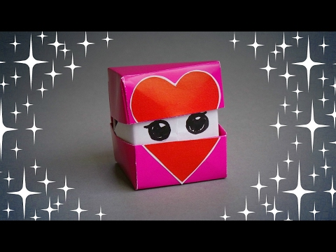 HOW TO MAKE / ORIGAMI FACES HEART CUBE - TUTORIAL / DIY…