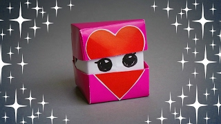 DIY - ORIGAMI FACES HEART CUBE - TUTORIAL / GIFT IDEAS