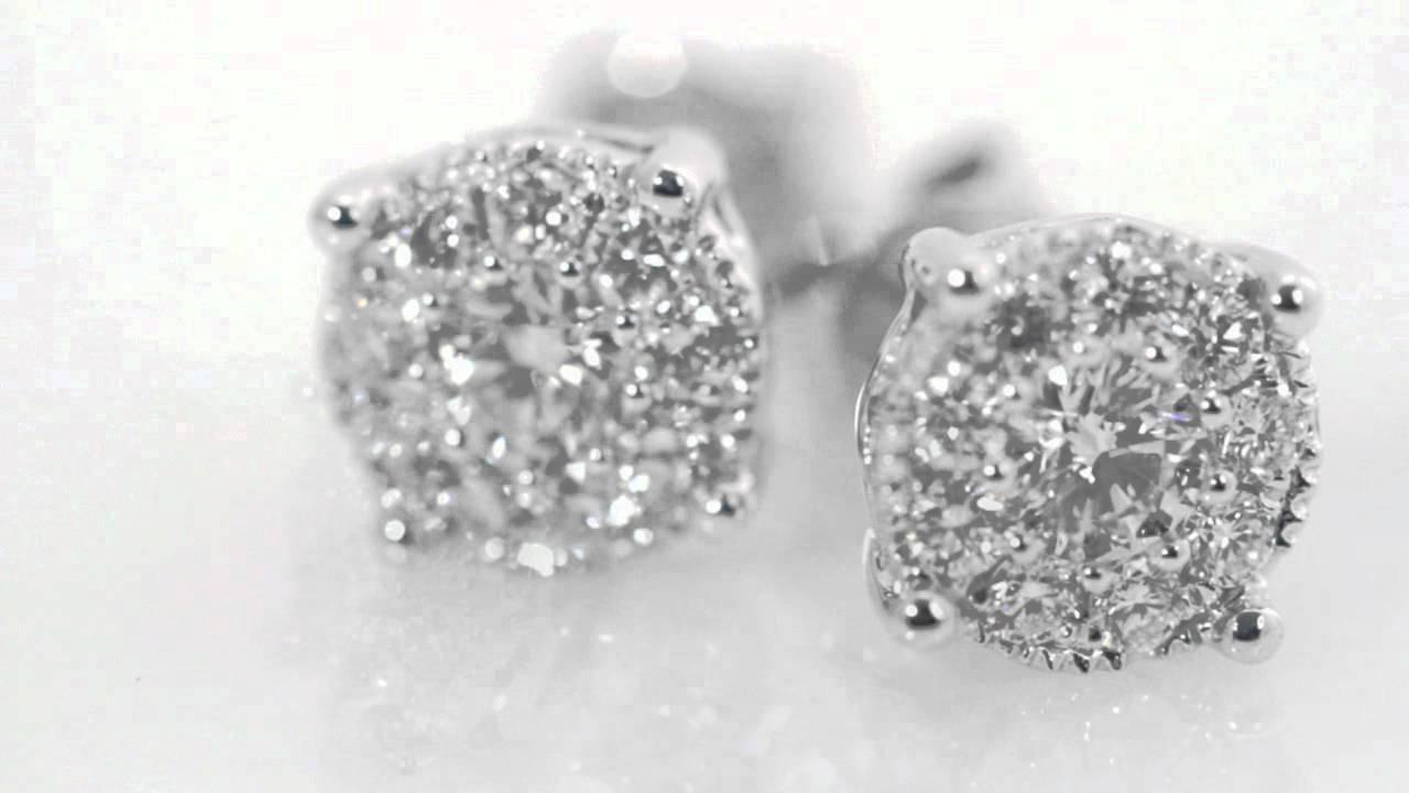 597751 Multi Stone Diamond Stud Earrings Costco