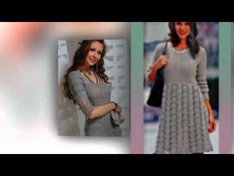 вязаные платья со схемами