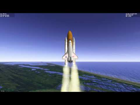 Stock Atlantis launch to ISS and return to KSC // Orbiter 2016 video tutorial