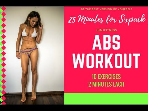ABS WORKOUT – Get Six.pack fast – 25 Minutes/10 Exercises