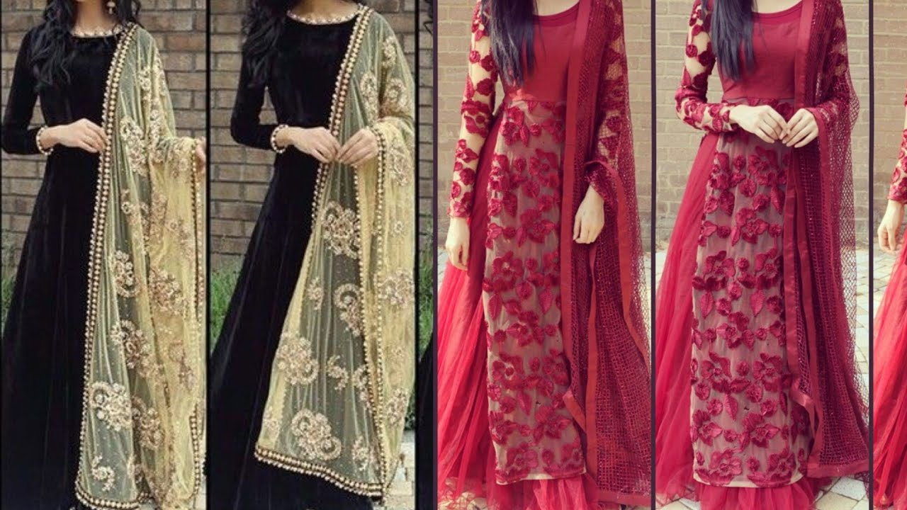 2ae1262fb8b Beautiful full sleeves suit designs Pakistani suit designs ideas for wedding  party wear suit designs