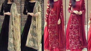 Beautiful full sleeves suit designs/Pakistani suit designs ideas for wedding/party wear suit designs